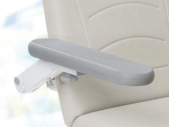 Grey full foam (foamed) armrests, right and left