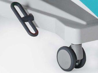 Rollen ∅ 10 cm mit Zentralarretierung inkl. Untergestellvollverkleidung