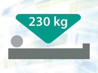 Maximale Belastung 230 kg