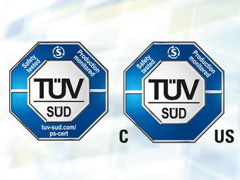 TÜV zertifiziert (tuev-sued.de/ps-zert)