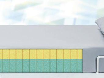 Matratze (Viscoschaum) mit PU-Überzug in grau (2-Schichtschaum)