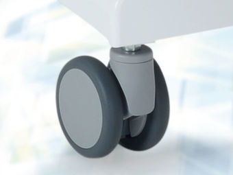 Individually locking casters ∅ 10 cm incl. full underframe cover