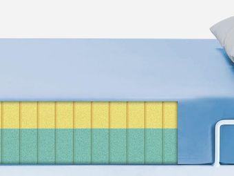 Matratze (Viscoschaum) mit PU-Überzug in hellblau (2-Schichtschaum)