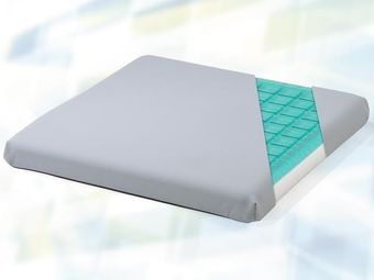 Seat cushion (gel) with PU-cover in grey, Anti-Dekubitus