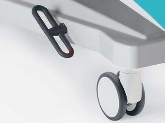 Rollen ∅ 12,5 cm mit Zentralarretierung und Richtungsfeststellung, inkl. Untergestellvollverkleidung
