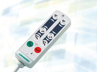 Handschalter A3 mit Tasten für Grundeinstellungen (Sitz-, Schockposition) und Magnetschlüssel-Sperrfunktion