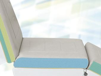 Upholstery with decorative stitching and robust seating area