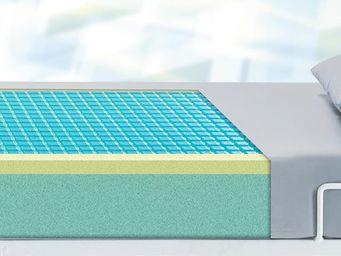 Mattress (gel) with PU-cover in grey, anti-decubitus