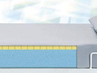 Matratze (Polyurethanschaum) mit PU-Überzug in grau (2-Schichtschaum) für Personen ab 175 kg