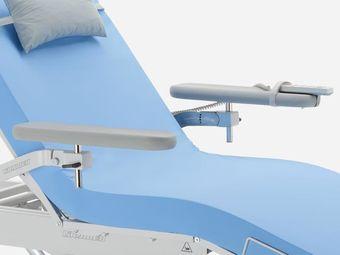 Zwei abnehmbare graue Vollschaum (geschäumte) Armstützen schwenk-, hochklapp-, abklapp- und höhenverstellbar