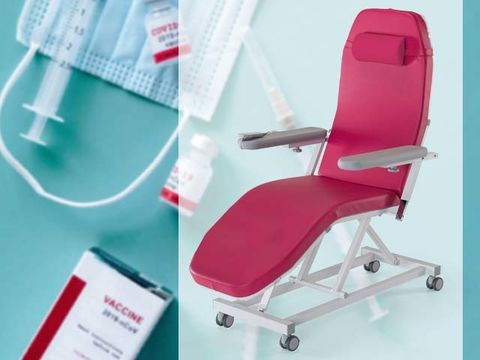 Injection chair as vaccination chair for injections