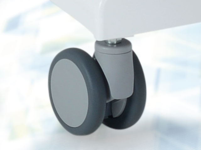 Individually locking casters Ø 10 cm incl. full underframe cover