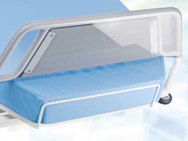 Transparent, cleanable protective cover for foot part and full foam (foamed) armrests