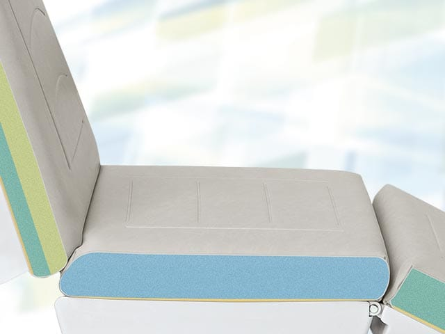 Upholstery with decorative stiching and robust seating area (2- layer foam)