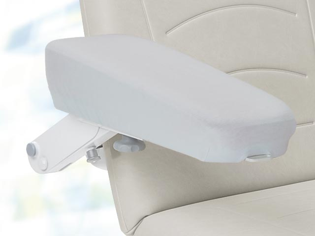 Jersey strech cover (washable) for full foam (foamed) armrests, wedge-shaped armrests and low wedge-shaped armrests