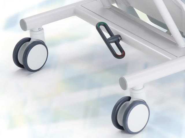 Central locking casters ∅ 12,5 cm with total blocking system